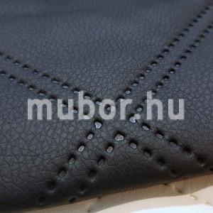 PIK15 fekete steppelt műbőr mintasál részlet