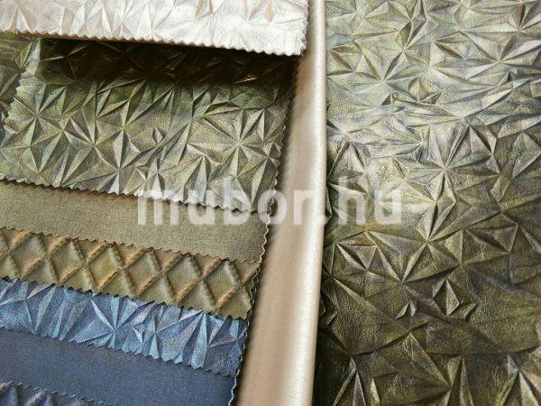 Select szilánkos zöld műbőr mintasállal