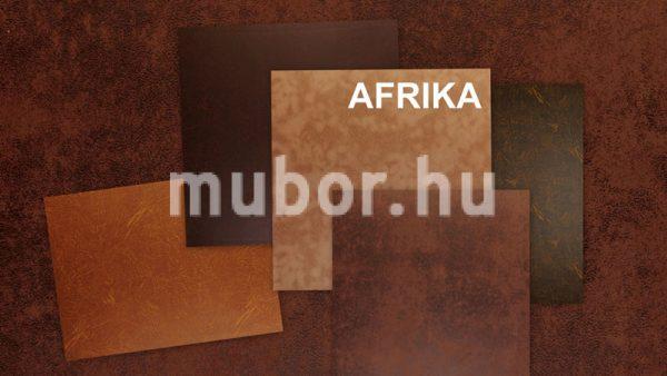 Afrika műbőr bőrhatású szövet, színvariációk
