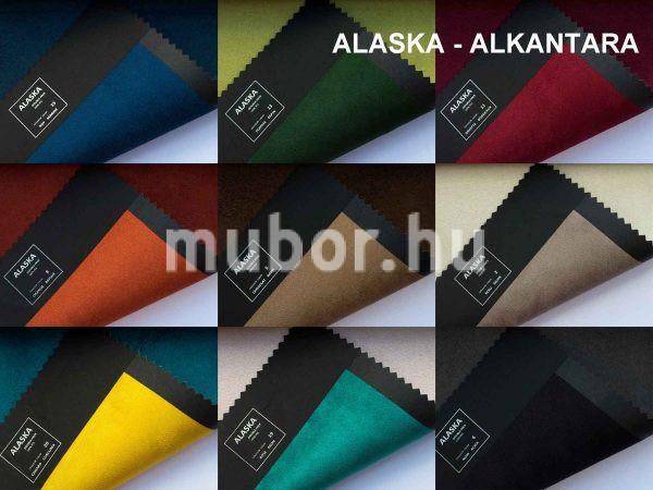 alaska műbőr alkantara 18 színben