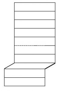 bronz előszobafal - 30 cm ülés