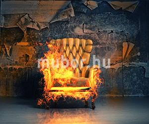 lángálló fotel - lángoló