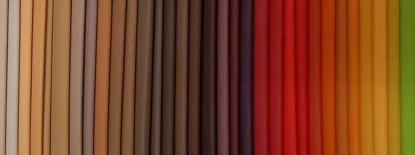műbőr színek - színskála