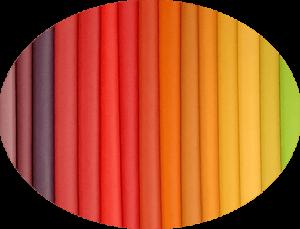 Műbőrök kiválasztása színek alapján