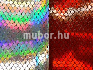 Ariel red hologramos műbőr vs ezüst